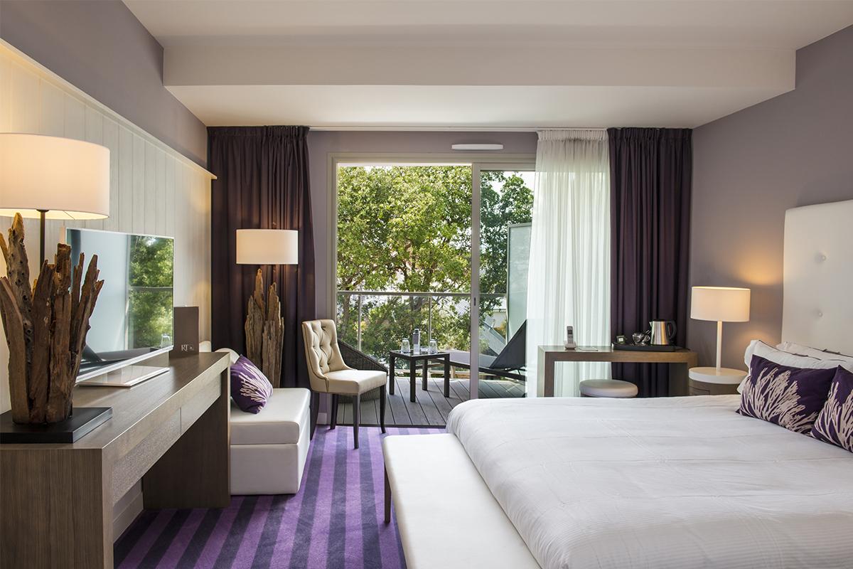 Les chambres d'hotel de la Thalasso du Château des Tourelles à Pornichet