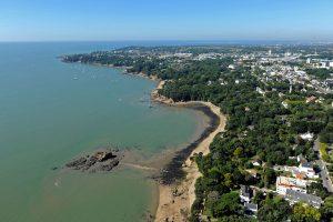 Vue aérienne de la plage de Bonne Anse