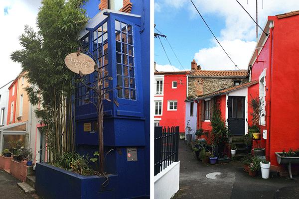 façades colorées des maisons à Trentemoult