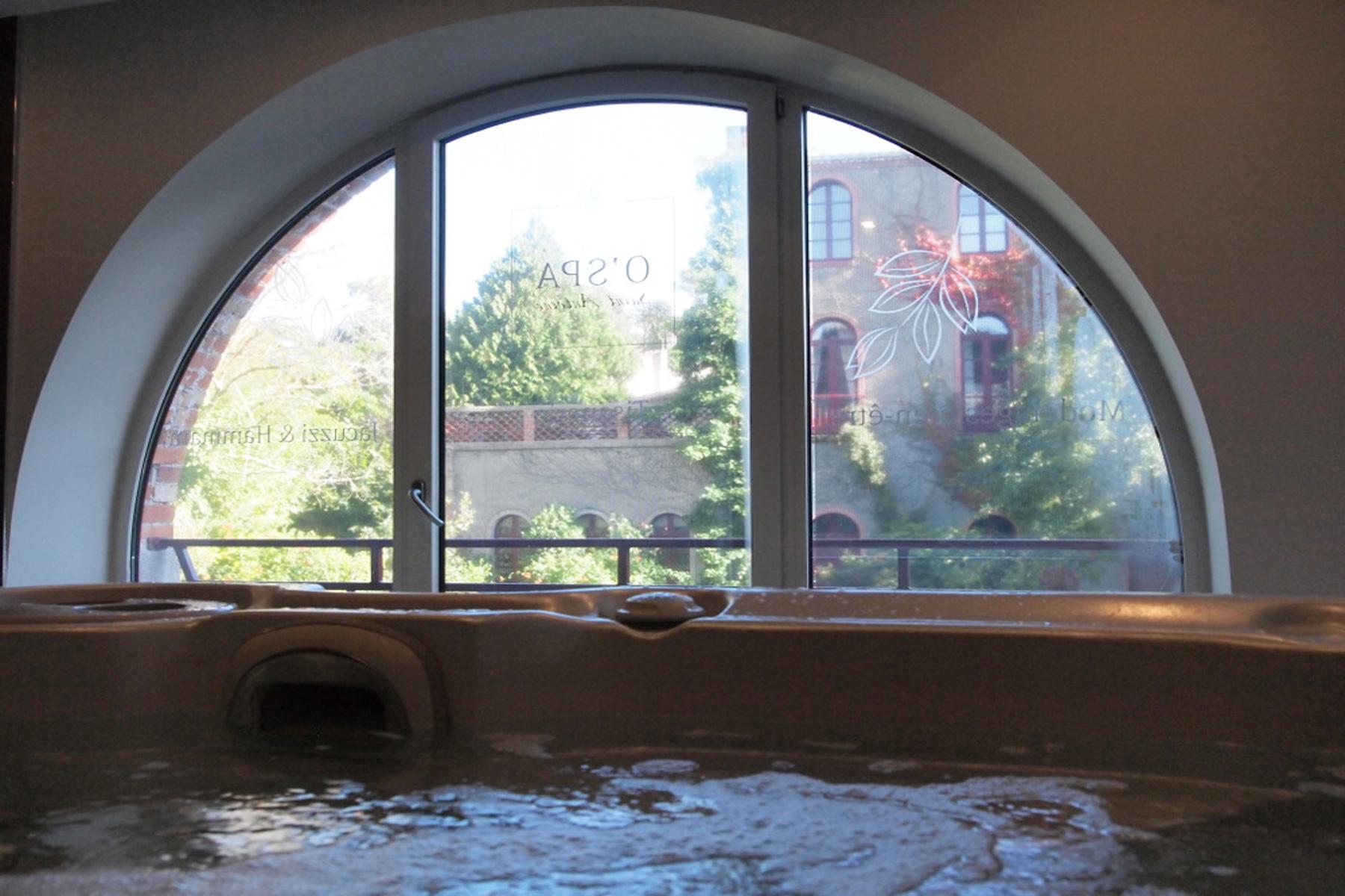 La vue du jacuzzi du spa dont a profité Aurore