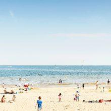 balade sur la plage lors d'un week-end à La Baule sur la côte atlantique