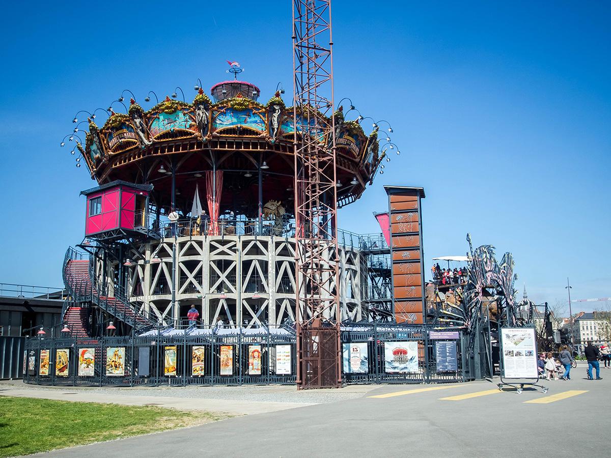 le carrousel des mondes marins, les machines de l'île à Nantes en Loire-Atlantique