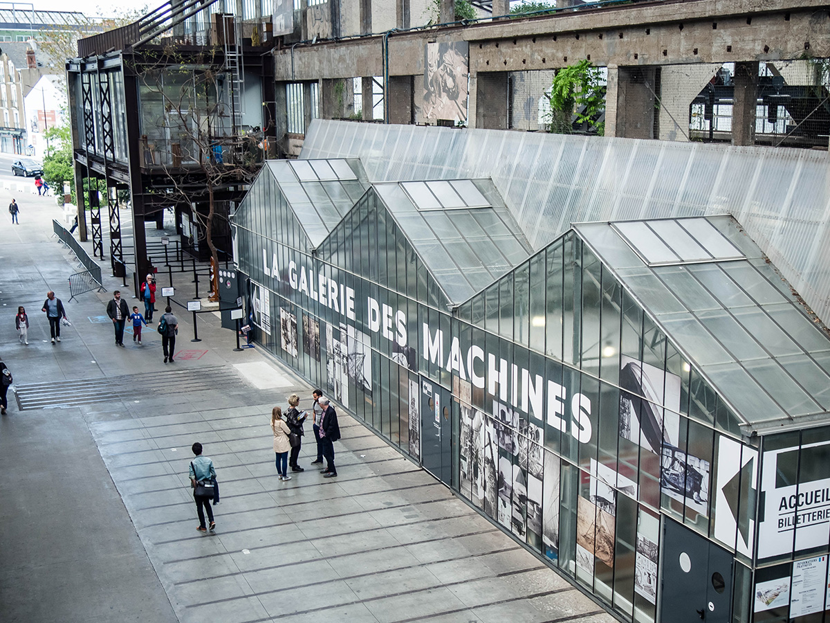la galerie des machines de île à Nantes, Loire-Atlantique