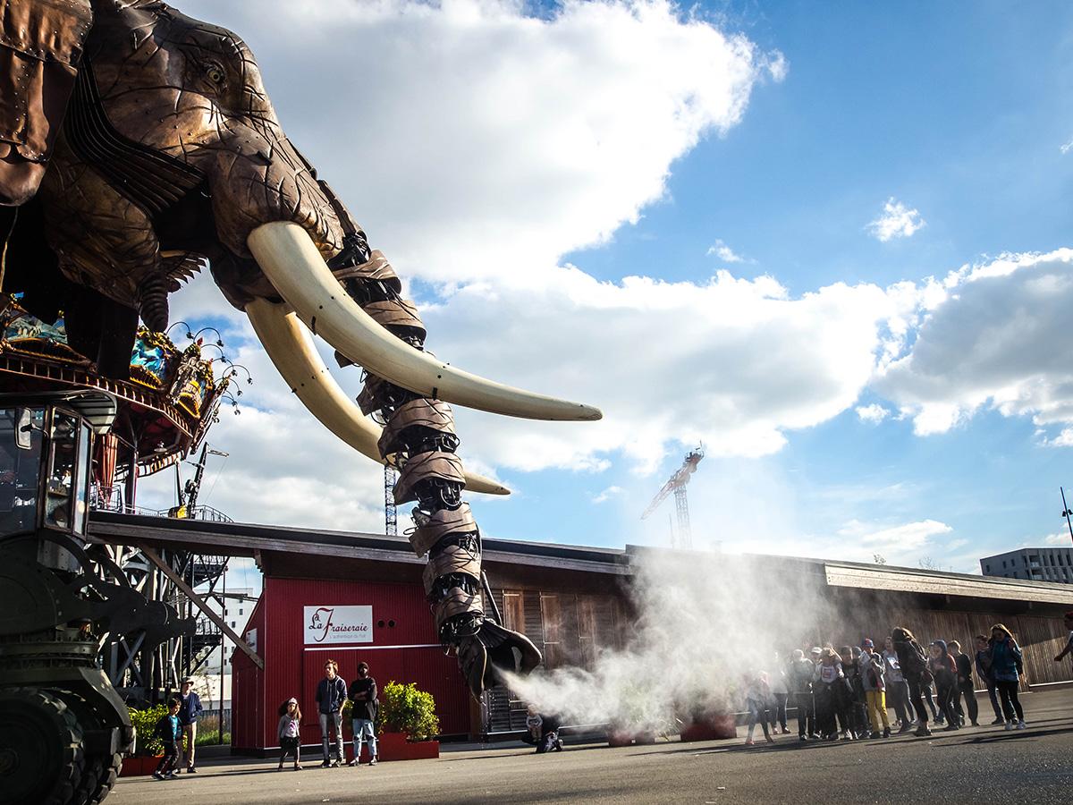 le grand éléphant ou éléphant géant, les machines de l'île à Nantes en Loire-Atlantique