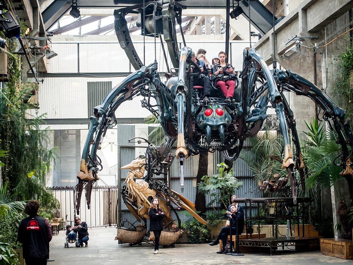 araignée géante les machines de l'île à Nantes, Loire-Atlantique