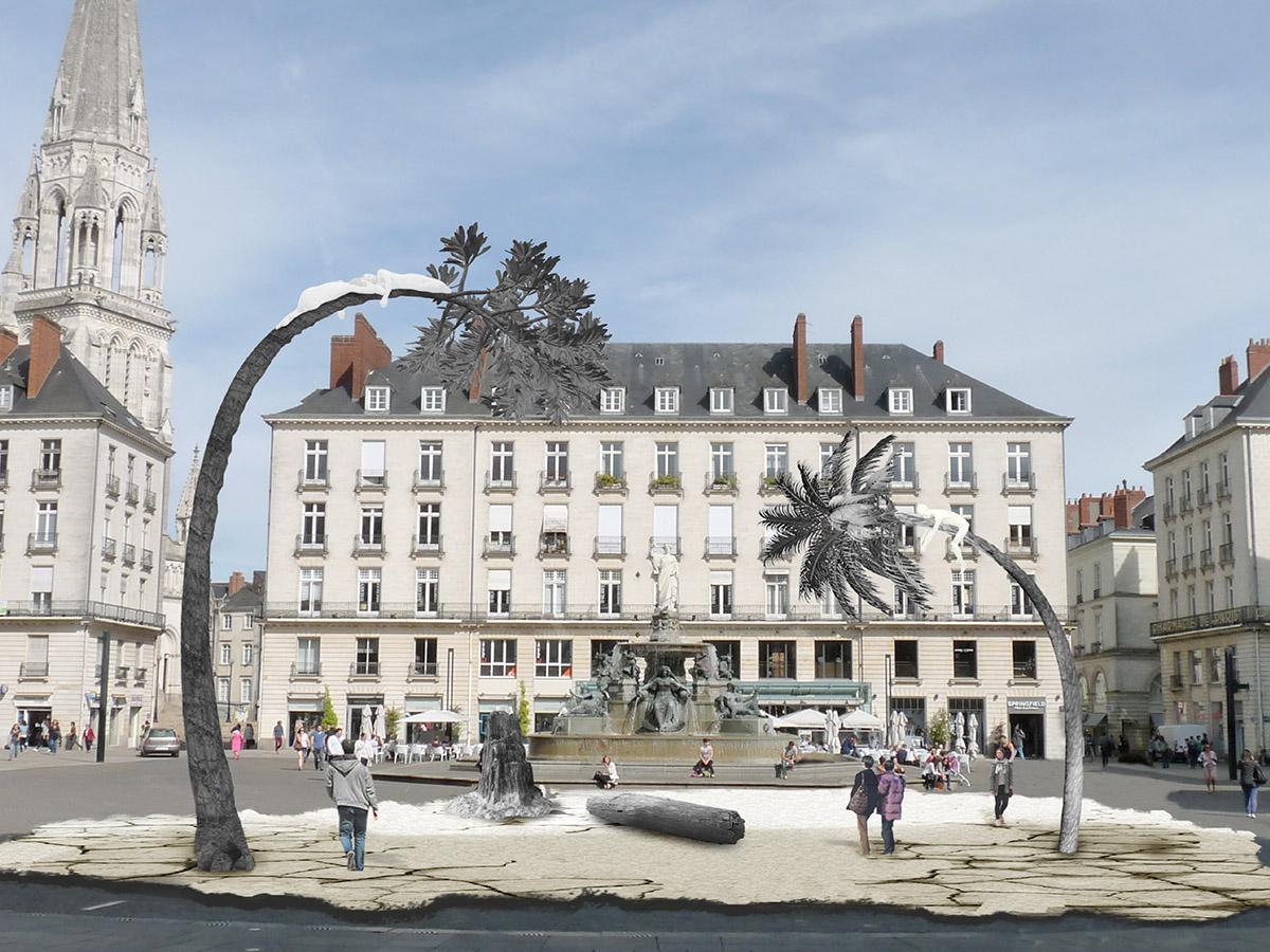 la terre ou rêve les arbres, oruvre du Voyage à Nantes de Laurent Pernot