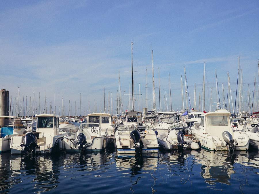 Le port de Pornichet dans la baie de La Baule
