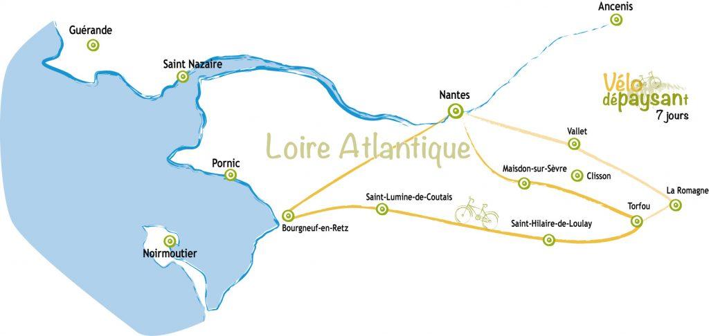 Carte itinéraire Vélo Dépaysant