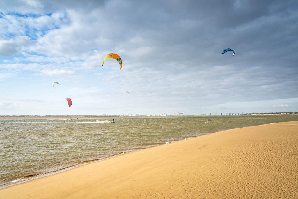 Kite-surf à Saint-Brevin @S. Grossin