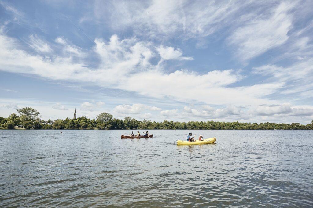 Activités nautiques sur l'étang du Bois Joalland à Saint-Nazaire @ A. Lamoureux