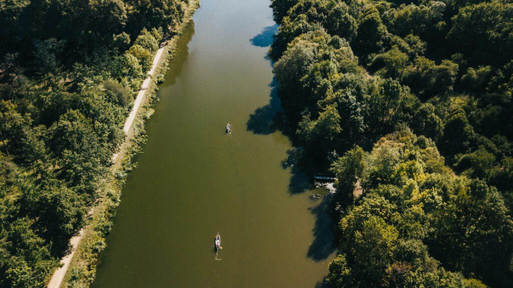 Canoé sur le Canal de Nantes à Brest @J. Jéhanin